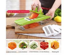 Taglia Verdure Grattuggia Baban Affetta verdure Mandolina 6 in 1 Slicer frutta affettaverdure per cucina Con 5 lame + Peeler + Spazzola per la pulizia