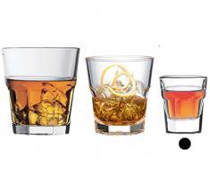 Pasabahce 52734 L Casablanca Bicchieri in Vetro da Liquore, 3.7 cl, 12 unità