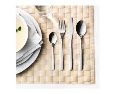Ikea Förnuft - Servizio di posate in acciaio inox massiccio, 24 pezzi