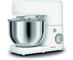 Moulinex QA1501 Masterchef Essential Kitchen Machine, Impastatrice, Capacità di 4.8 L, Movimento Planetario per Risultati Omogenei, 6 Velocità, 800 W