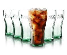 Tivoli Coca Cola Bicchieri per Acqua - 330 ml - Set da 6 – Bicchieri di Alta qualità – Lavabili in Lavastoviglie – Bicchieri di Cristallo