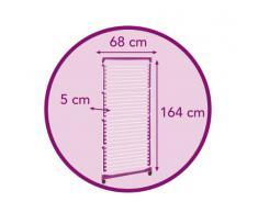 Meliconi Stendibiancheria Lock Tower 4 - Stendibiancheria A Torre 40 m Telaio E 4 Piani In Acciaio Resinato, Con Ruote