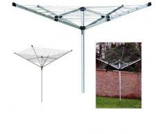 Progen - Stendibiancheria a ombrello, pieghevole, per esterni, da giardino, con 4 bracci da 50 mm, per stendere e far asciugare il bucato