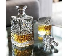 Caraffa da whisky/Whiskey Caraffa di Cristallo JFK Soffiato e handgeschliffen