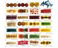 Mattarello con Fimo Shrimp Orange – Fermaglio per capelli, ungewoehnlicher capelli gioielli, carnevale, feste idea regalo