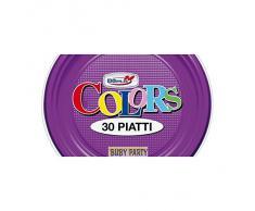Piatti in plastica rigida colorati DOpla 30 pz - viola