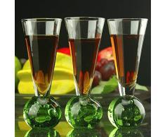 FMN-JIUBEI, Grado Superiore Champagne Pinta Bicchiere Cristallo Bicchiere Highball Margarita Calice Vino Calice Martini Bicchieri Bicchieri da Vino Bicchiere da Whisky Strumento (Size : 6pcs 50ml)