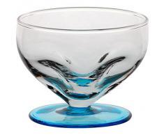 Coppe per gelato, coppe in vetro~LIGURIA~ Blu marino, 9 cm, Vetro trasparente(GELATO VERO powered by CRISTALICA)