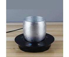 Genex Scaldatazza USB Scalda Smart Termostato USB Pad Scaldino caffè Scaldino Tazza Scaldatazze Elettrico Scaldapiatti Piastra Riscaldante per Scrivania Nero