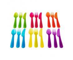 Ikea - Set posate Kalas da 18 pezzi coloratissimi