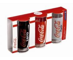 Luminarc - Set di 3 Bicchieri Mix Coca Cola: Original, Zero, Light