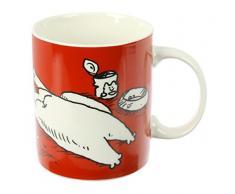 Puckator MUG277 - Tazza in porcellana Tendre Simons Cat rosso, bianco, nero, 12 x 8,5 x 9,5 cm