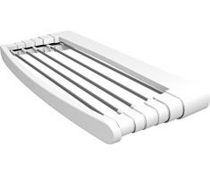 Gimi Telepack Stendibiancheria da Parete in Resina e Alluminio 3,5 m Stendibili