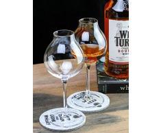 ERTY Whisky Coppa Calice Cristallo Whisky XO Chivas Tulip Bud Charms Bicchieri Bicchieri Brandy, Bicchiere da Barista X2