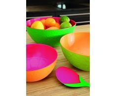 ZAK Designs Tulipani Posate per Insalata, 2Â Pezzi, 28Â cm, Colore: Verde/Arancione