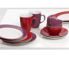 Ritzenhoff & Breker 597226 Doppio - Servizio da caffè 12 pezzi, colore: Rosso