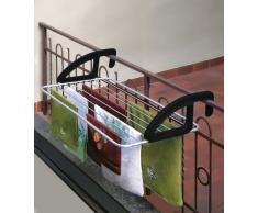 Metaltex - 406810, Stendibiancheria da balcone, in alluminio, 10 m