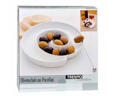 Porta olive in ceramica a spirale antipastiera ciotola per aperitivo e antipasto buffet bar snack finger food B2