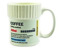 Gift Republic - Tazza a Forma di Barattolo di Pillole, MOD. caffè