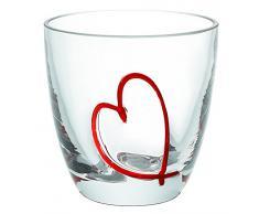 Guzzini 23750165 Set 6 Bicchieri Acqua Dec., Modello Love