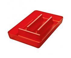 Koziol Portaposate per cassetti, rosso trasparente, 5210536