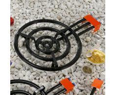 Piano cottura per paella, 3 fiamme, 4 anelli, diametro: 60 cm, potenza 33,85 kW Per padelle per paella, Made in Spain Adatto a padelle, piastre, pentola, wok ecc