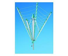 Leifheit Stendibiancheria a ombrello Alluminio e plastica 237 x 237 cm e diagonale 328 cm Linomatic 500 85233