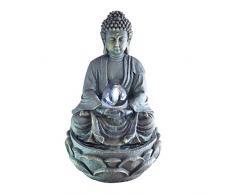 Zen Luce SCFR 8G Buddha Meditation Fontana Grande Interni Dark Brown / Cioccolato 21 x 21 x 30 cm