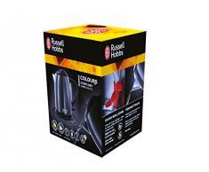 Russell Hobbs Colours Plus Compatto Bollitore , Base girevole con Avvolgicavo, Ebollizione in 55 sec., 2200 Watt,, Capacità di 1L, Acciaio Inossidabile, Nero