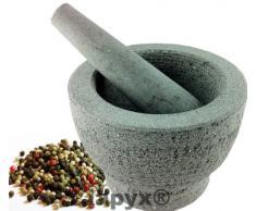 iapyx®, Mortaio con pestello (massicio Mortaio in Pietra Naturale, Naturale, pestello con Finitura Lucida)
