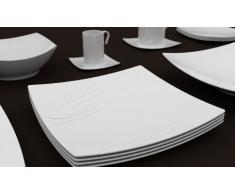 Porcelaine Blanche   Piatto Rettangolare Kensai, In Porcellana, Lavabile In  Lavastoviglie, 37 X 23 Cm, Colore: Bianco