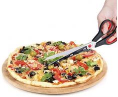 Ducomi Forbici Tagliapizza, Forbice per Pizza in Acciaio con Base Paletta di Servizio per Sporzionare - Taglia Pizza Accessori Professionali Cucina - Impedisce Che Si Strappi la Pasta e la Mozzarella