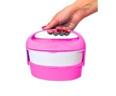 Outlook Design G. Lunch Borsetta Porta Pranzo con Due Contenitori, Adatti a Microonde e Frigo, ABS e Manico in Silicone, Rosa