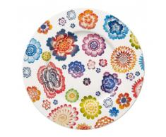 Villeroy & Boch - Piatto da colazione in porcellana Bone Premium, 22 cm, design floreale, multicolore