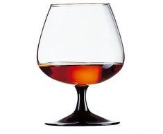 Arcoroc Confezione da 6 Bicchieri calici 41cl per degustazione Cognac/Brandy Modello Degustation