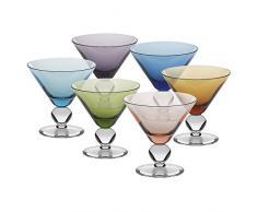 """Set 6 coppe per gelato, coppe in vetro, """"COCKTAIL"""" (GELATO VERO powered by CRISTALICA )"""