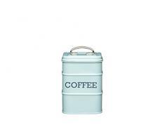 Kitchen Craft Living Nostalgia Contenitore per caffè in Latta, Scritta in Lingua Inglese, Colore Blu