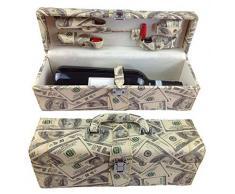Set da vino 6 pezzi accessori vino Set regalo con cavatappi da sommelier cavatappi tappo per bottiglia termometro per vino versatore in elegante confezione regalo in ecopelle vino Set vino Set accessori LN 16 - 8