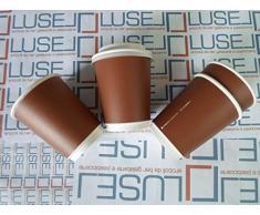 PZ 200 BICCHIERE PER CAFFE' E BEVANDE CALDE BICCHIERI CARTONE PER CAFFE' + COPERCHIO TERMICO CL 10