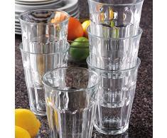 Duralex Picardie bicchiere da acqua 360ml, senza contrassegno di riempimento, 6 bicchieri