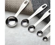 logei® 5 * Cucchiaio dosatore 5 in 1 Set di Cucchiaio in Acciaio inossidabile Cucchiaino di Volume