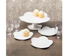 Zak Designs 1313-N970 Sweety - Piatto da dolce, 20 cm, colore: Bianco