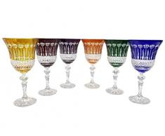 Bicchiere da vino di cristallo realizzati a mano, 6 bicchieri di cristallo 20 cl, bicchieri Roemer, firmato Baccarat Crystal klein 54120, bella idea regalo
