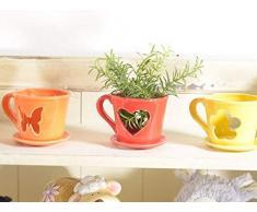 Ideapiu 6 Tazzina portacandela in Ceramica Lucida Colorata