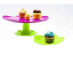 Zak Designs Sweety 0204-N960 - Piatto per torte diametro 38 cm, colore: Verde