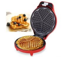 FAST WORLD SHOPPING Piastra per Waffle Piastra WAFFEL Maker 700 Watt GRIGLIA A Cuore WAFFRE Wafer