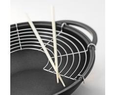 Berndes Special Edition - Padella wok in titanio 32 cm, con coperchio in vetro e accessori