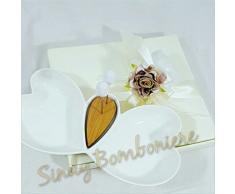 Bomboniere MATRIMONIO ANTIPASTIERA in ceramica bianca idea originale SB