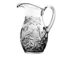 Crystaljulia 3006 – Bicchieri brocca per acqua, cristallo, 1,5 l, 19 x 19 x 25 cm