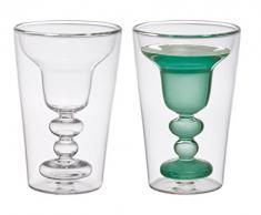 Bitossi Home BHV12672 Set 2 Bicchieri Margarita, in Vetro Borosilicato Doppia Camera